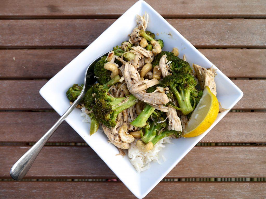 lemon chicken broccoli cashew