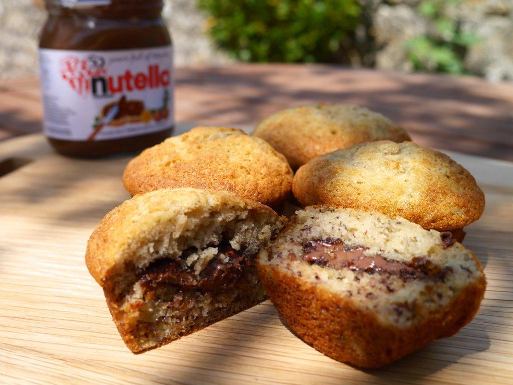 Nutella and Banana Muffins