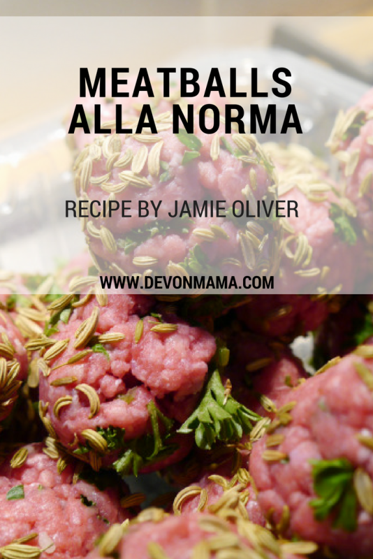 Recipe Meatballs Alla Norma. Quick and simple pasta dish by Jamie Oliver