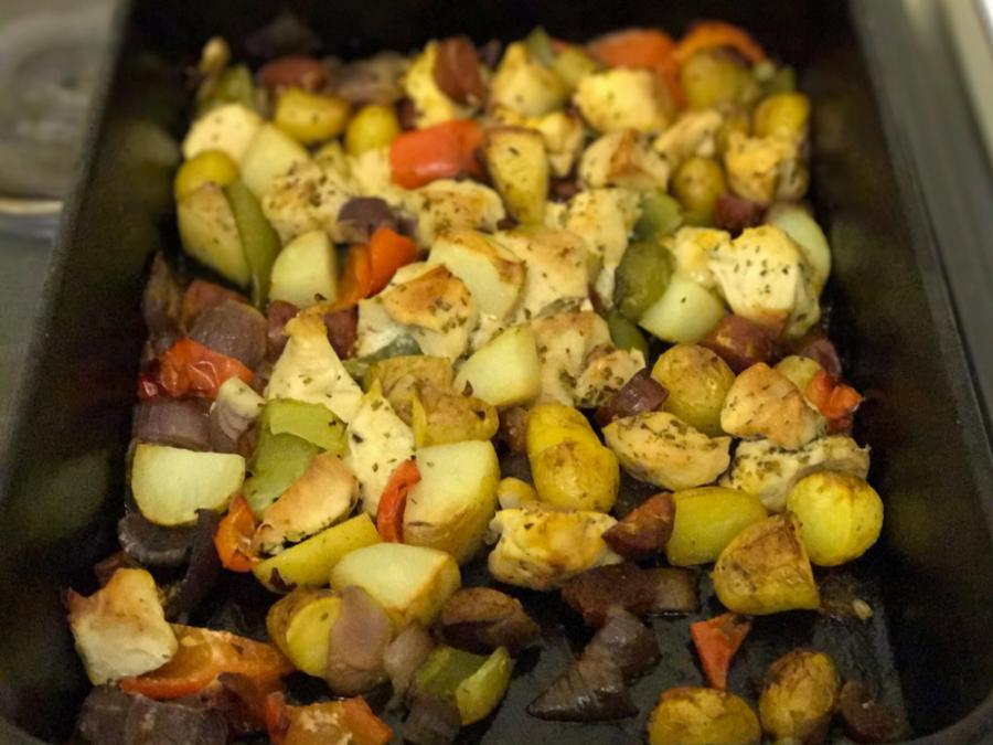Recipe: One Pan Chicken & Chorizo Bake