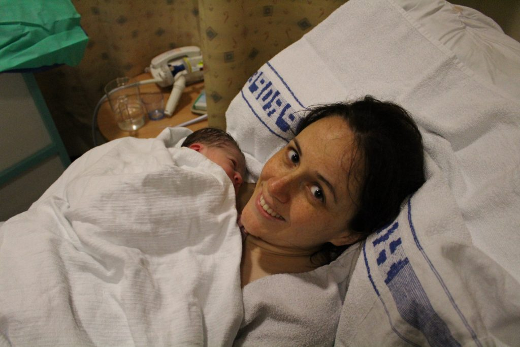 our birth story first photo labour