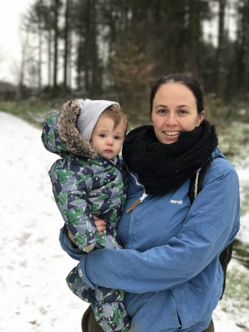 Living Arrows: A Walk in the Snow with the Baby! (Devon Mama)