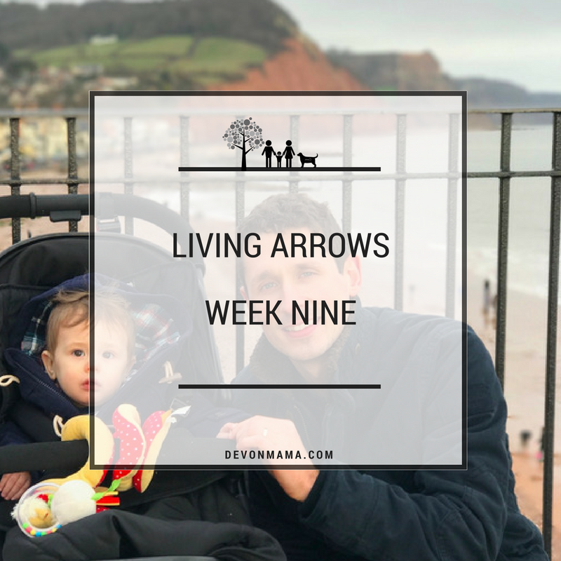 Living Arrows Week 9. Family time at the beach with the baby