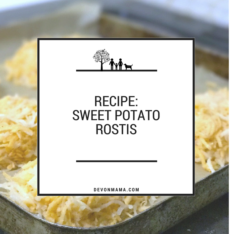 Sweet Potato Rostis Recipe - How To Cook Healthy Hash Browns. Slimming World and Baby Led Weaning (BLW) friendly