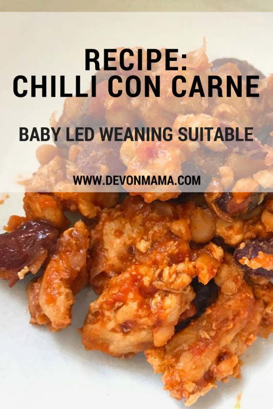 Recipe Chilli Con Carne Baby Led Weaning Suitable