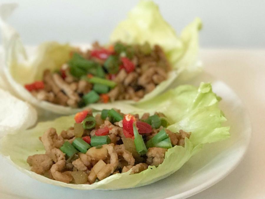 Chinese Lettuce Leaf Wraps Recipe