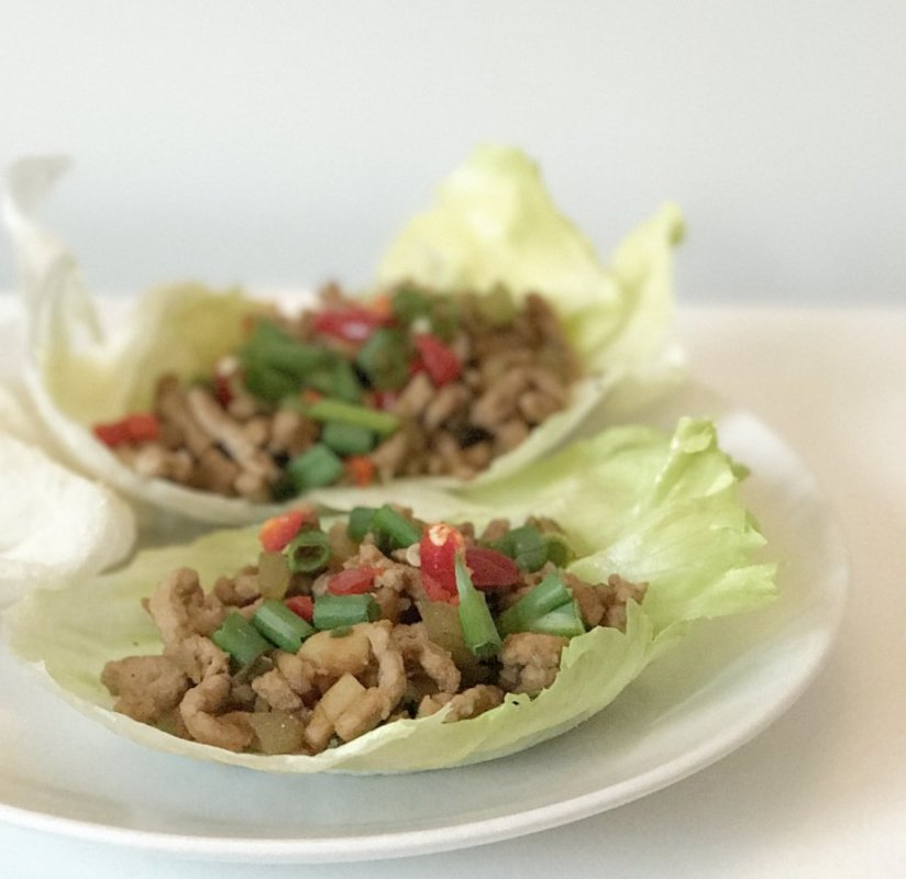 Chinese Lettuce Leaf Wraps