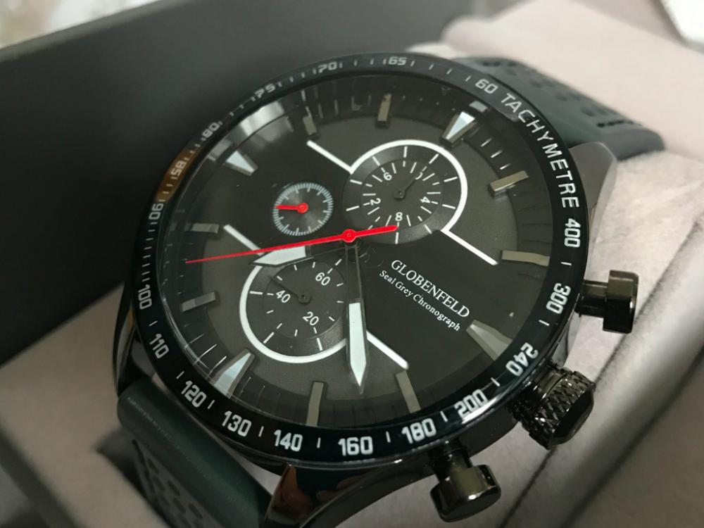 review globenfeld seal grey chronograph sports
