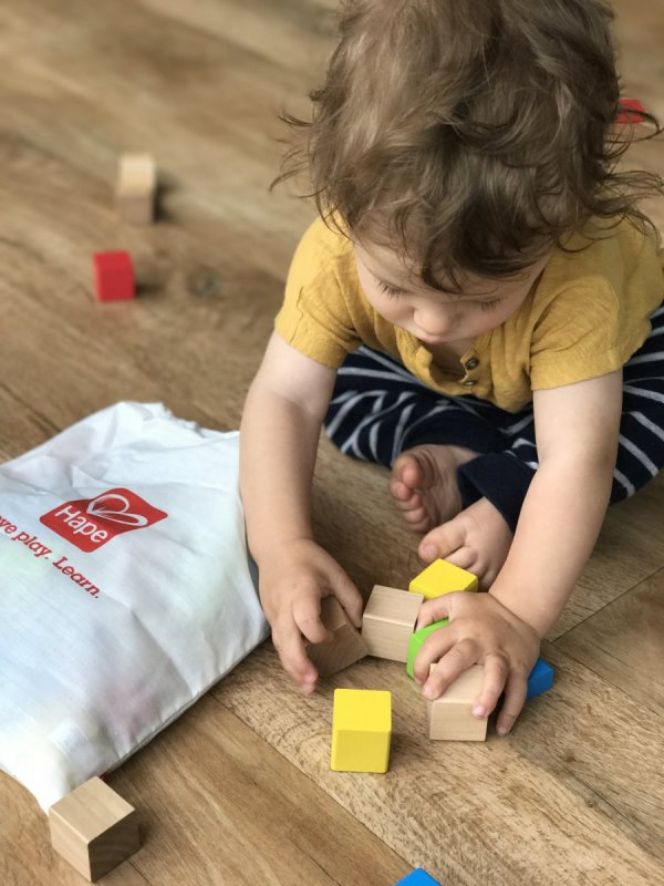 Review: Hape Maple Wood Blocks & Little Plane - DEVON MAMA