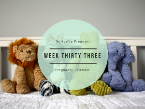 Pregnancy Calendar - Week Thirty Three