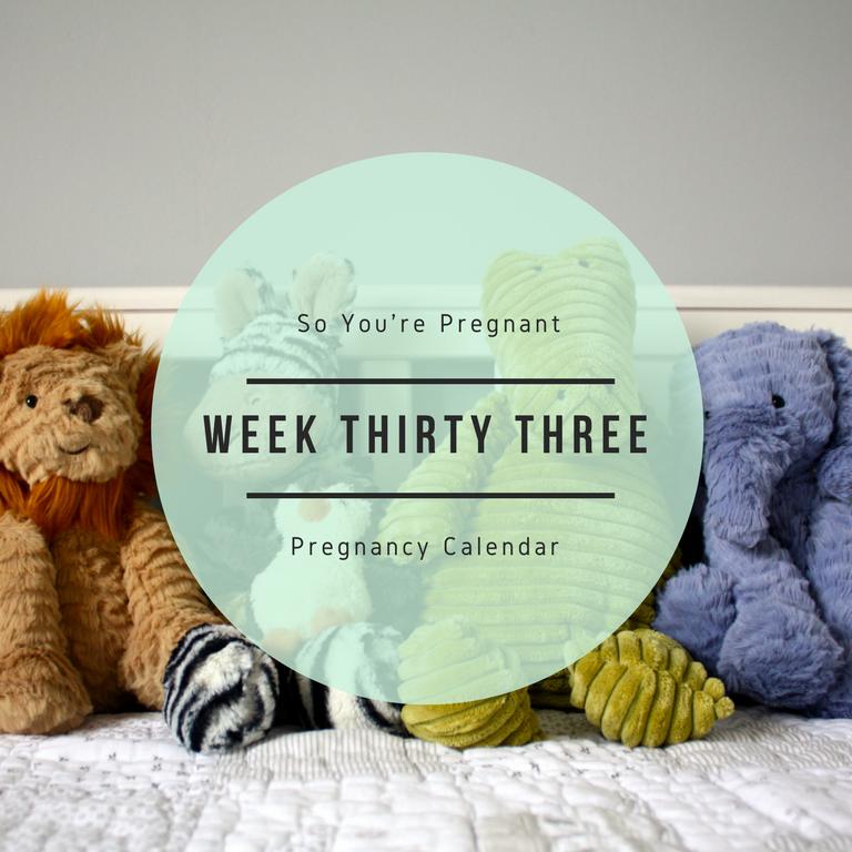 Pregnancy Calendar - Week Thirty Three