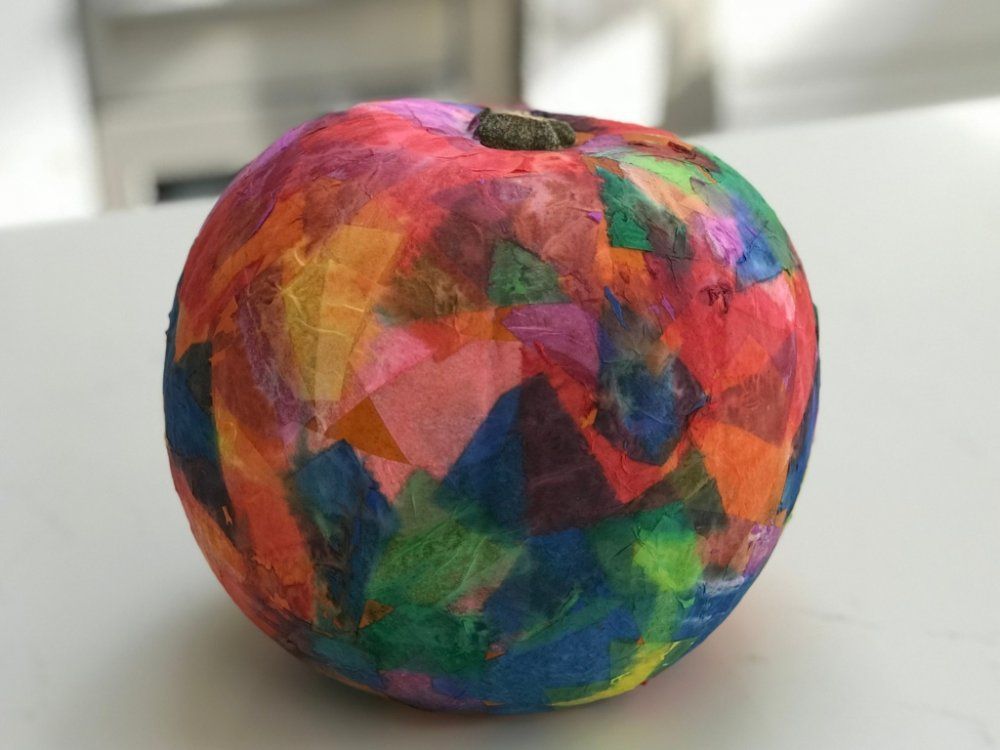 Tissue Paper Pumpkin Craft For Toddlers