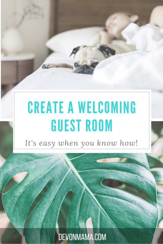 Create a welcoming guest room with these easy home decor tips. Your spare bedroom can be a relaxing calm place for family to visit. Use these easy DIY tips to help turn your house into a home with finishing touches; your guest won't ever want to leave!